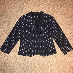 The Limited Polka Dot Navy Blazer - Medium